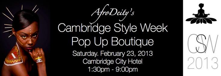 AfroDeity at Cambridge Style Week