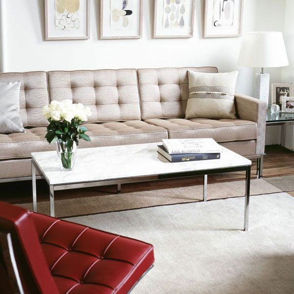 Marble Coffee Table Leather Sofa: 8 Best Images About Florence Knoll -The Sofa On Pinterest