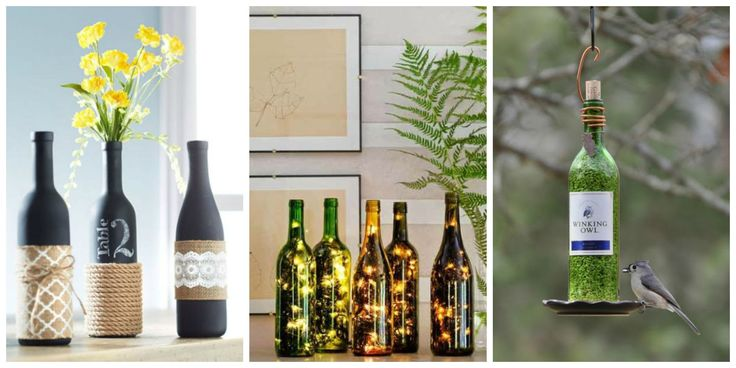 wine bottle crafts - HD1600×800
