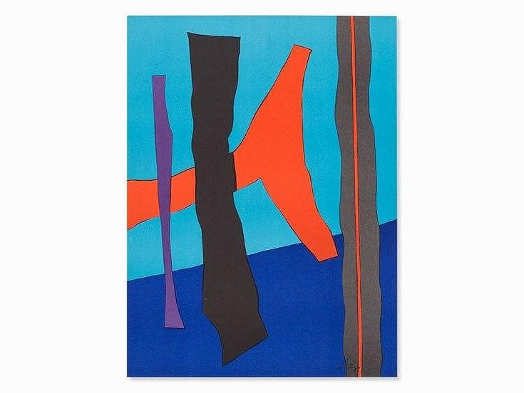 Artist: Fritz Winter (1905-1976), German painter, important abstract artists of the postwar period; Title: Litho 72: Medium: Colour Lithograph. From 'Wer hat Angst vor Rot, Grün und Blau?', 1969-1971, which was  published by F. Bruckmann KG as part of the celebrations of the 1972 Olympics in Munich . This image is part of copy number 348/1800 from the complete edition of 4000 copies.