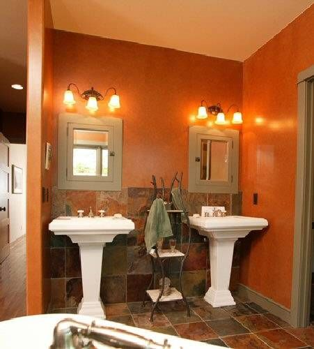 love this wall color for the bathroom ideas for the home