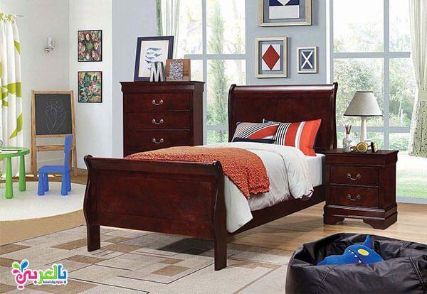 اجمل موديلات غرف نوم اطفال لون بني و عسلي و بيج بالعربي نتعلم Twin Bedroom Sets Wood Bed Design Bedroom Set