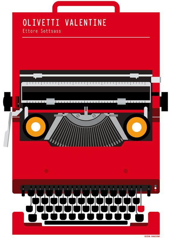 Olivetti Valentine Typewriter Ettore Sottsass