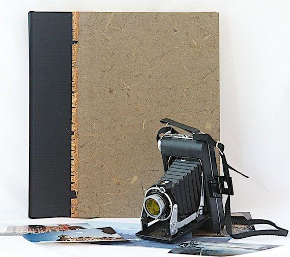 Photo Album Mesquite Banana Bark - Great for Wedding Photo Album, Birthday Gift, Bridal Showers, Groomsmen Gift, Scrapbook Album
