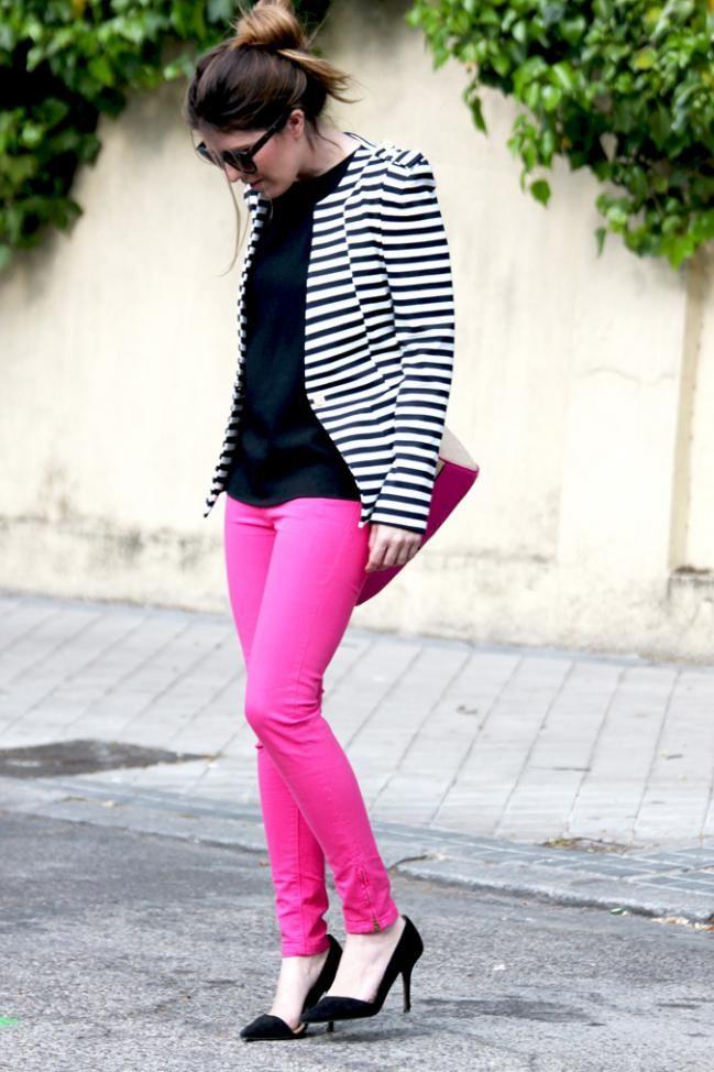 8 formas de usar pantalones rosa - IMujer