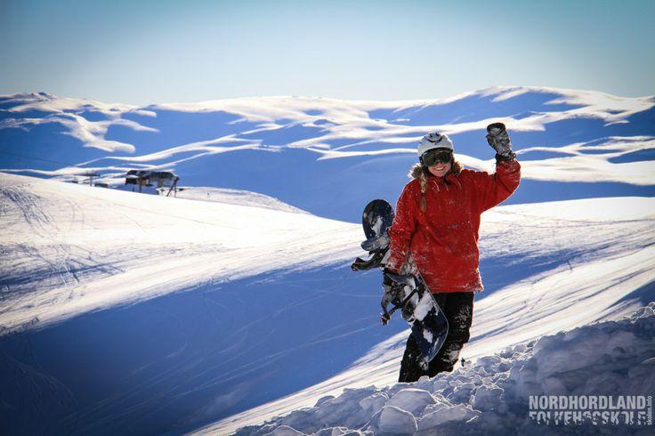 Snowboard, Myrkdalen, Nordhordland Folkehøgskole