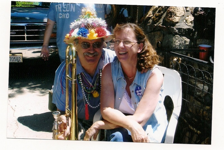 My husband, Kent, who plays the trombone for the Ophir Prison Marching Kazoo Band...another part of my life!