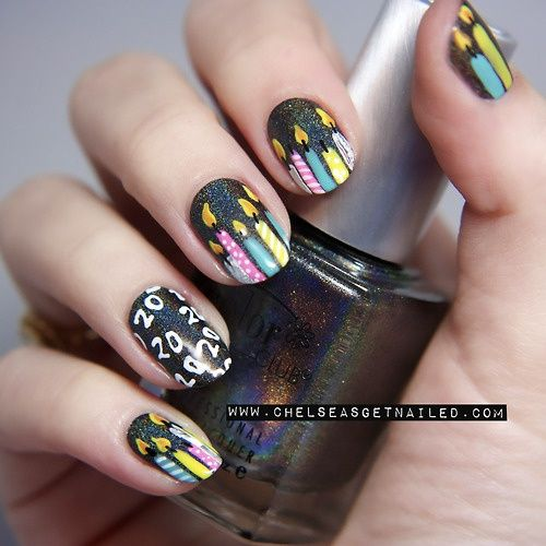 17 best Birthday Nail Designs images on Pinterest Birthday nail