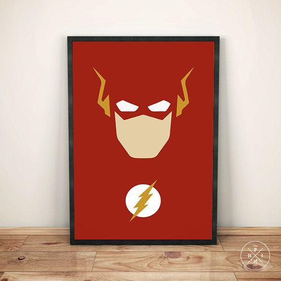 THE FLASH Superhero Lightning Tv Series Minimalist by PhinCreative