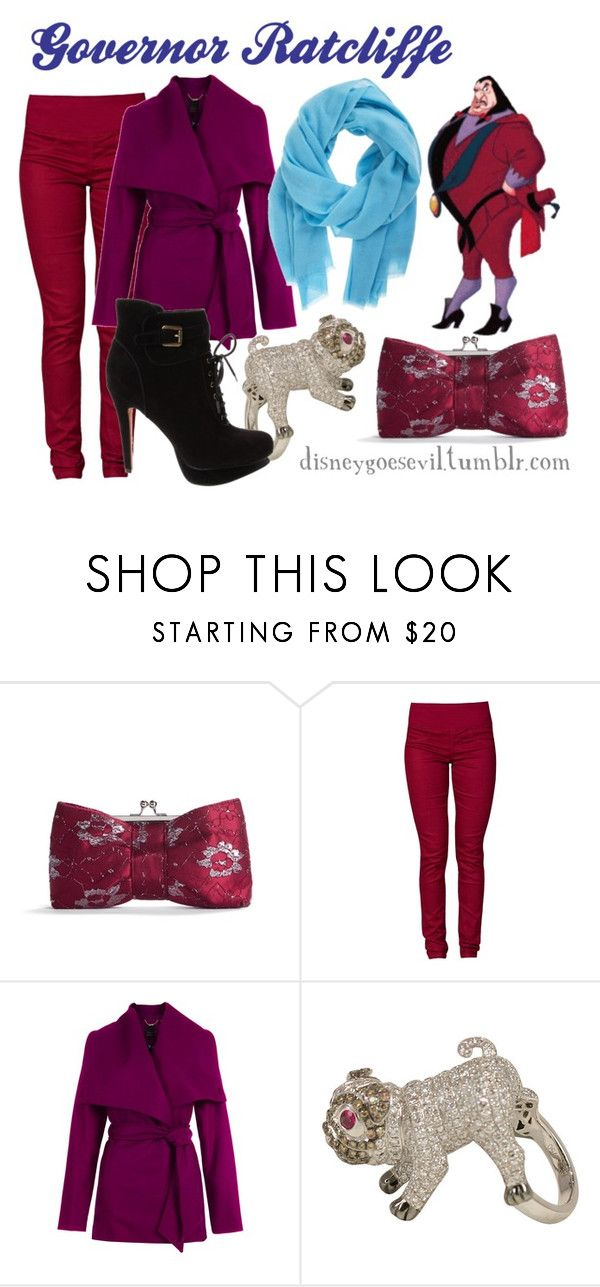 """Governor Ratcliffe"" by disney-villains ❤ liked on Polyvore featuring Lulu Townsend, Sisters Point, Ted Baker, Jeri Cohen, Denis Colomb and Sam Edelman"