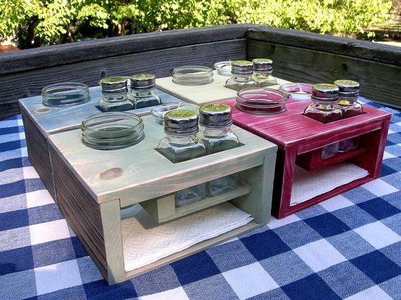Kitchen Table Organizer - Picnic Table Caddy - Silverware ...