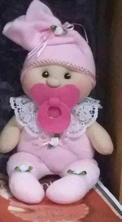 Bebé con carita soft en tela