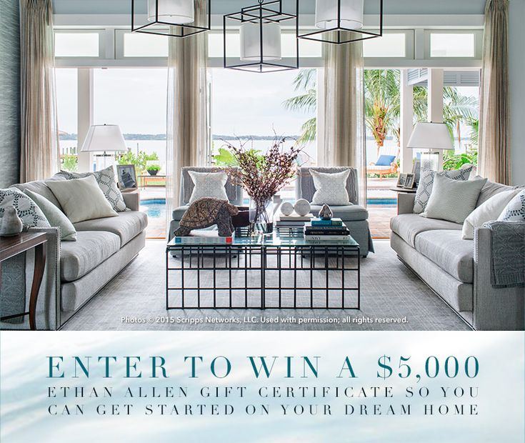 ENTER TO WIN TODAY!!  This is our tenth consecutive year dressing the HGTV® Dream Home. Enter to win a $5,000 gift certificate so you can dress your dream.
