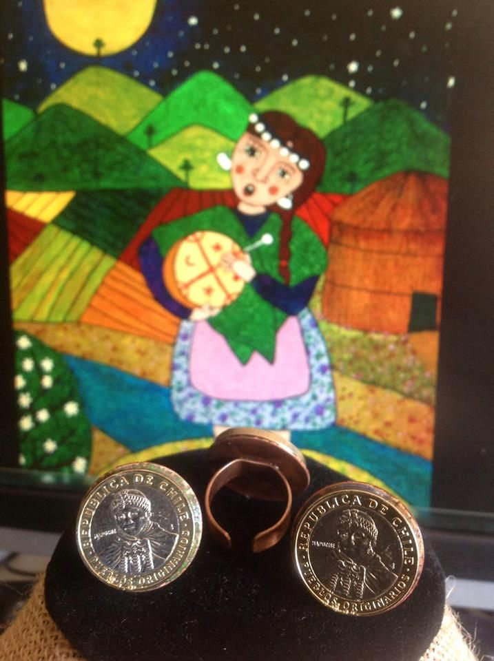 Copper Mapuche Coins Rings from JJ Artensia located in String Bean Alley https://www.facebook.com/jj.artesania