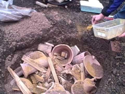 Pit firing pottery 1