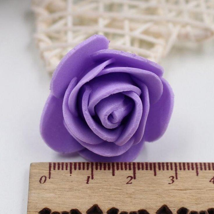 50шт 19 цветов 3см пены Малый Пена Роза Искусственные цветы Свадебные украшения Праздничная одежда для обуви Головной убор Аксессуары Роза цветок