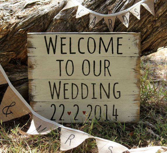$ 60 Custom signs for any occasion. If you can find it, I can make it ! Country Vintage Wedding Sign by TheWelcomeSwallow on Etsy www.facebook.com/swallowtaildesign