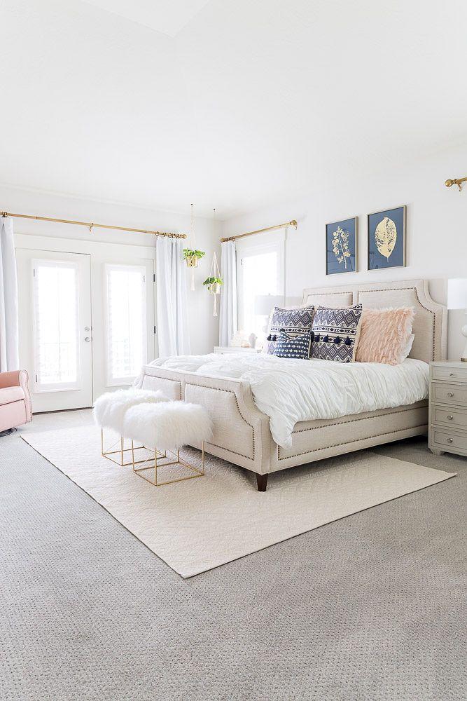 White Master Bedroom Ideas Home Tour A Slice Of Style White Master Bedroom Luxurious Bedrooms Bedroom Interior