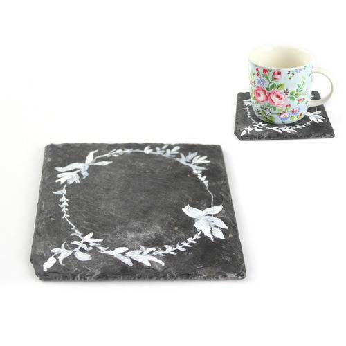 Sate Coaster, Hand Painted, by Catriona Makes - £5.35 Handmade from reclaimed materials
