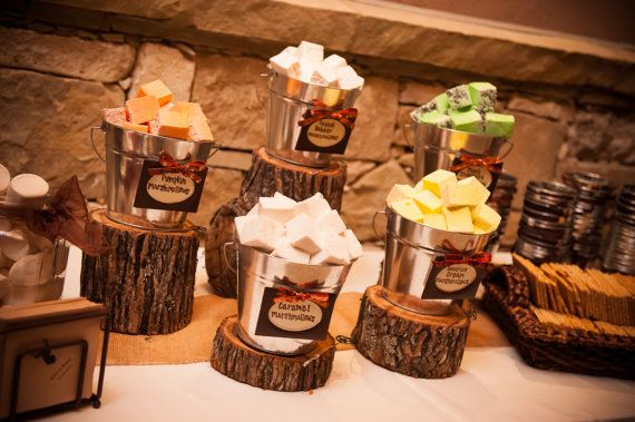 Rustic Wedding Decor Wood Slice Centerpieces By