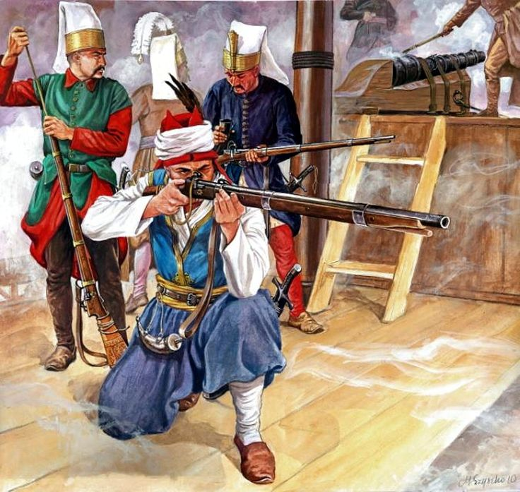 Turkish janissaries embarked