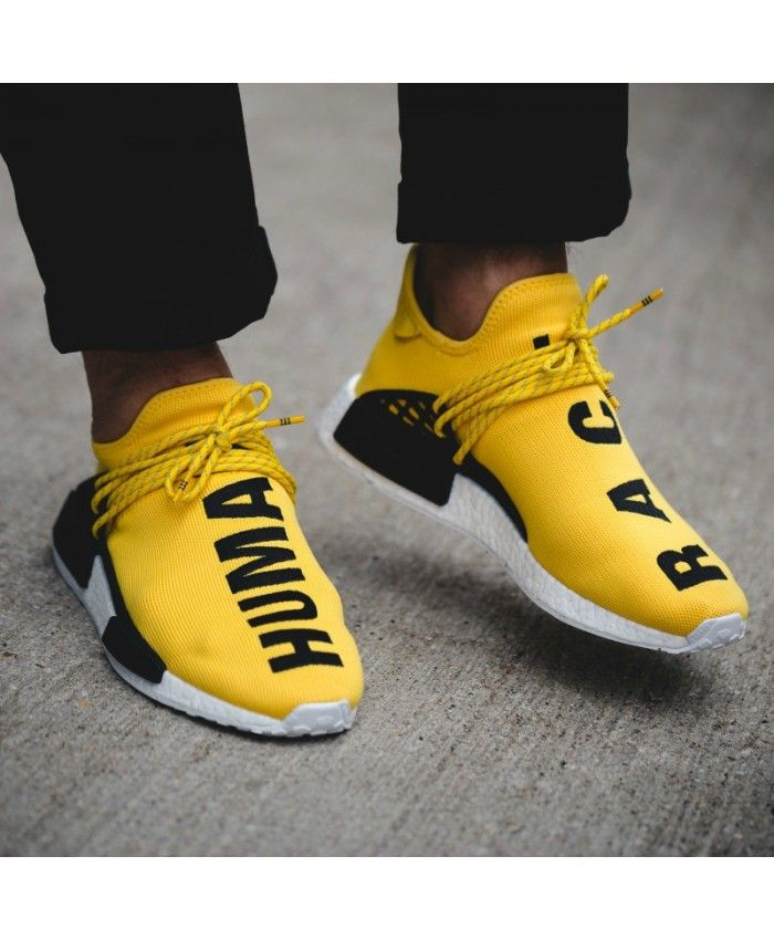 buy popular dc0c6 f8c63 Cheap Adidas NMD Human Race Pharrell Yellow Sale UK