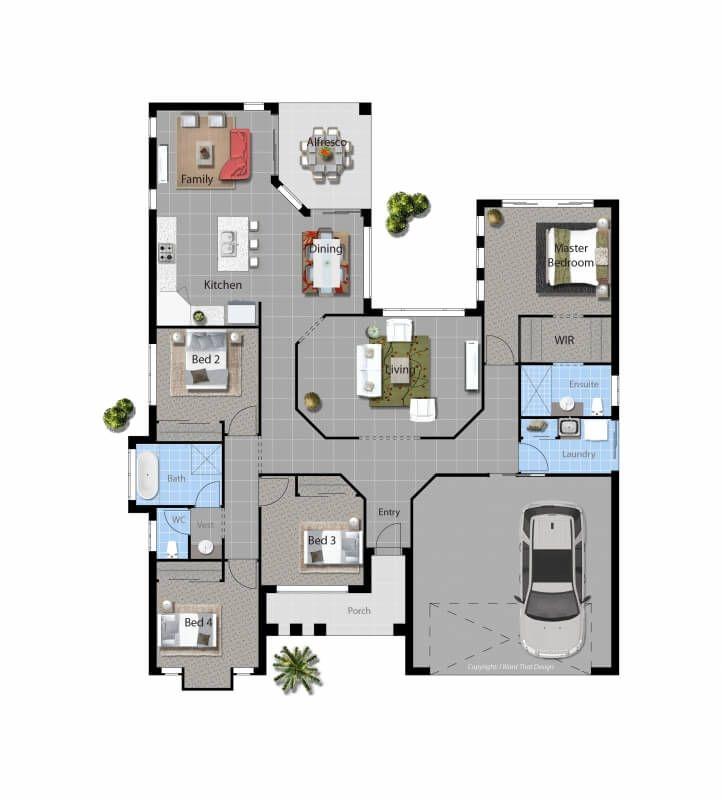 House Plan   David Reid Homes   Lachlan 4 Bedrooms