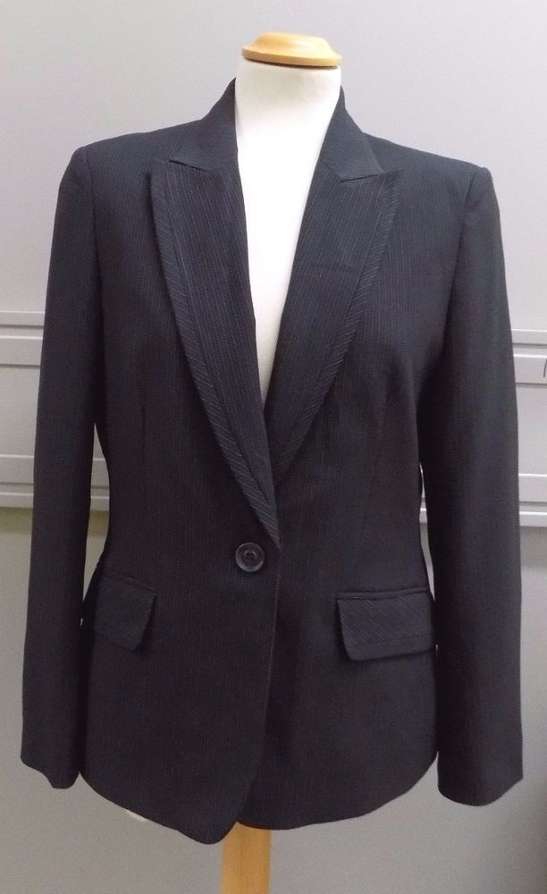 Autonomy Ladies Pinstripe Blazer Jacket Size 12 in Clothes, Shoes & Accessories, Women's Clothing, Coats & Jackets   eBay!