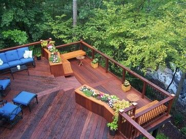 Estimated price for a complete deck per square foot:      Pressure-treated wood: $15-$25     Cedar: $24-$45     Composite: $32-$45     Redwood: $30     Top-end plastic: $48     Ipe: $55