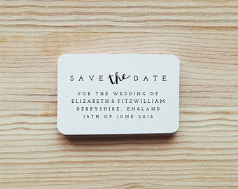 Custom Save the Date Rubber Stamp with Wooden Handle DIY by poumi