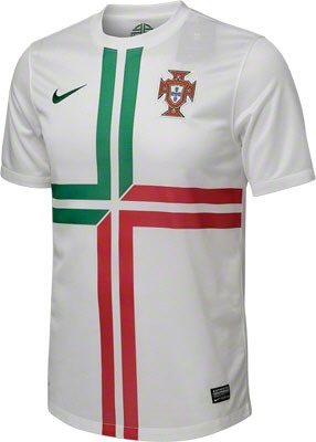 Portugal Soccer White Nike Replica Away Jersey - made from 100% Recycled Material- http://www.fansedge.com/Portugal-Soccer-White-Nike-Replica-Away-Jersey-_1249256535_PD.html?social=pinterest_3612_portugal
