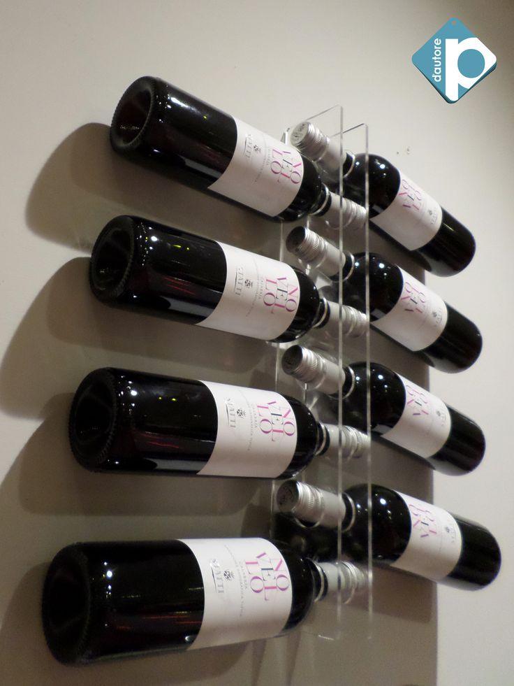 17 migliori idee su portabottiglie vino su pinterest - Porta vini da parete ...