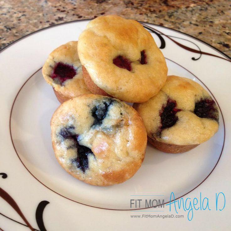 21 Day Fix Berry Pancake Mini Muffins   Breakfast Idea   www.fitmomangelad.com