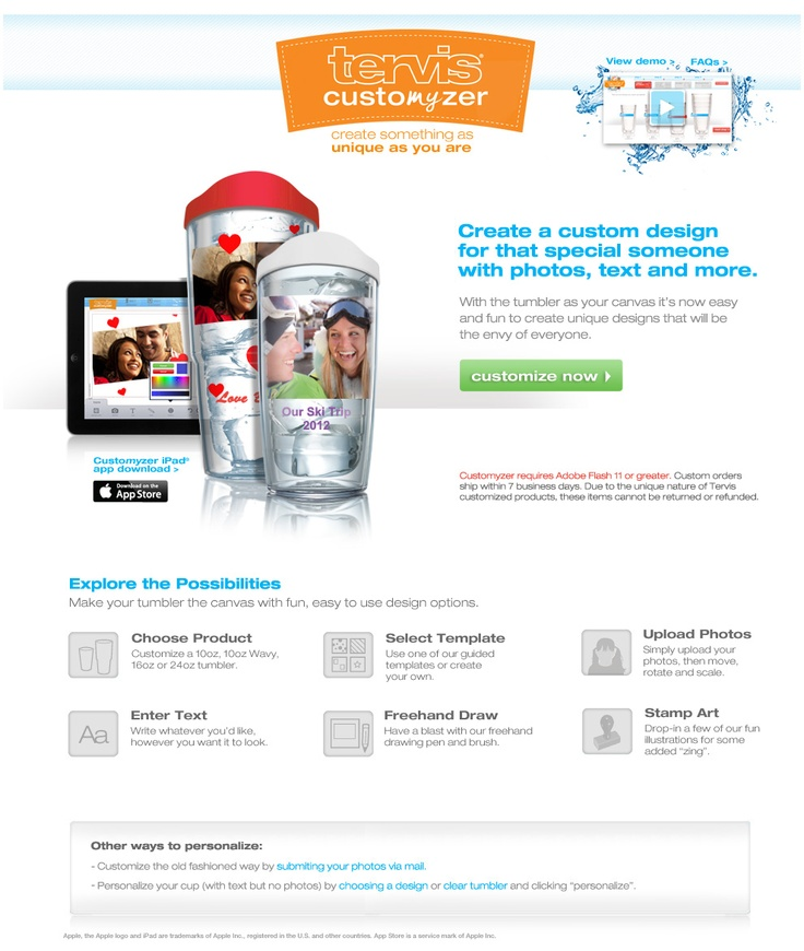 Create Custom Photo Gifts with the Tervis customize with your own photo!