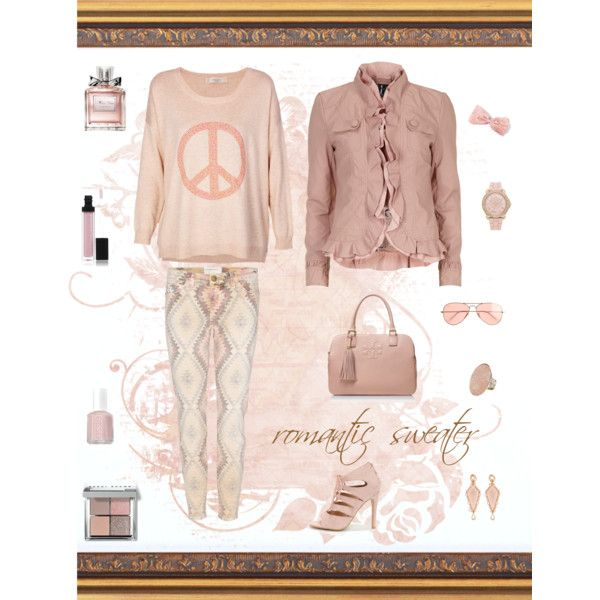 """""""romantic sweater !"""" by red-fashion on Polyvore"""