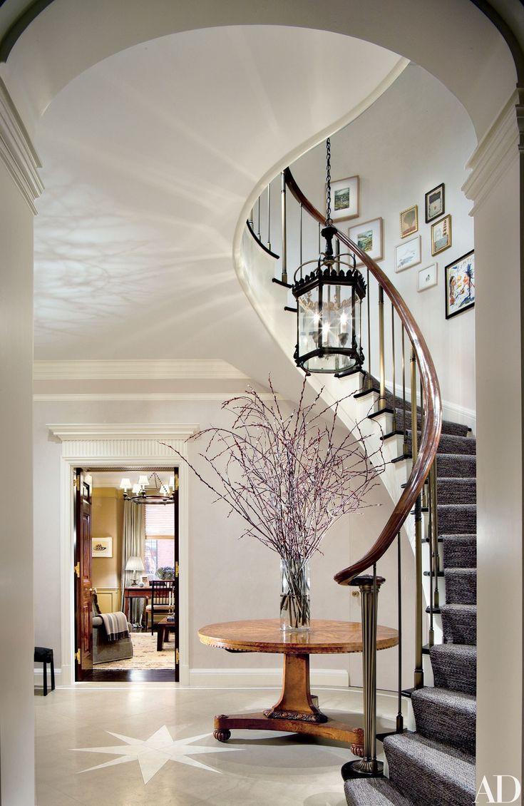The renovated entry-way of a Manhattan duplex by archdigest | bocadolobo.com/ #modernentryway #entrywayideas