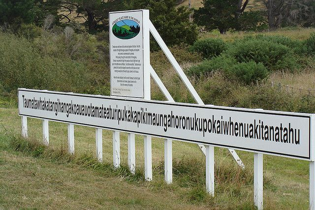 'Taumata whakatangi hangakoauau o tamatea turi pukakapiki maunga horo nuku pokai whenua kitanatahu' is the longest place name in the world, according to the Guinness Book of Records and a famous photo destination for visitors to Hawke's Bay.