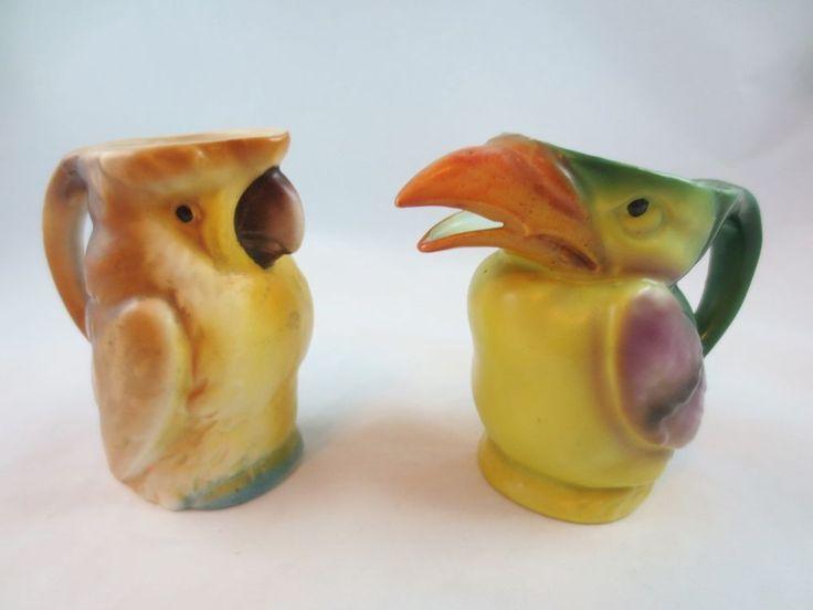 Vintage Czech Czechoslovakia Hand Painted Pottery Toucan