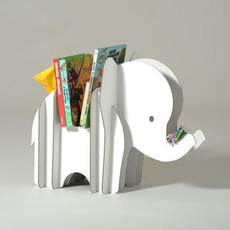 Carboard magazine rack | Effy | #kids #children #furniture #design #gadget #animal #colour #beautiful #decoration #decoracion #niños #infantil #diseño #creativity #creatividad #diy #craft #handcraft #handmade