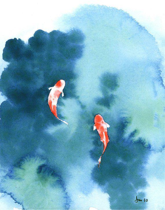 Koi Pond – Watercolor 8×10 Print