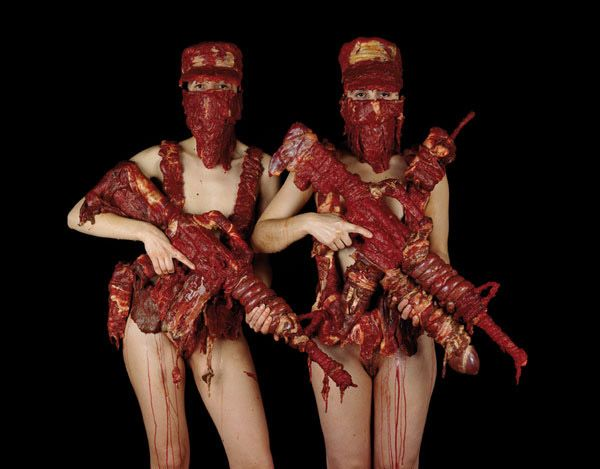 Dimitri Tsykalov - war depictions... with raw meat