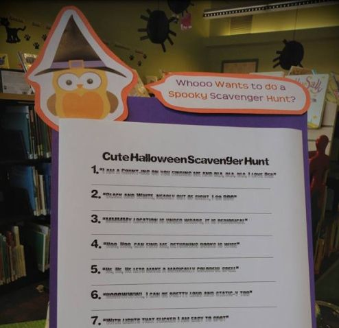 It's been a fun month at the Children's Library – from the reactions to the dangling spiders to this scavenger hunt, which has been one of the most popular passive events that we&…