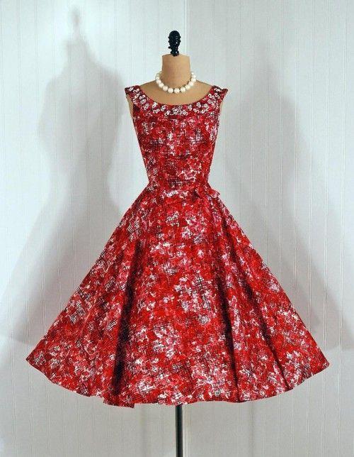 '1950s dress via Timeless Vixen Vintage'