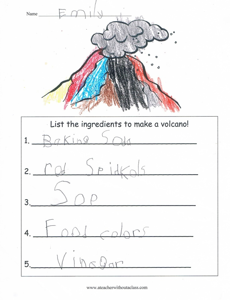 how to draw a volcano step by step for kids