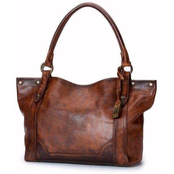 Frye Dark Brown Melissa Shoulder Bag (€330) ❤ liked on Polyvore featuring bags, handbags, shoulder bags, dark brown, dark brown leather handbag, brown leather purse, brown leather handbags, leather shoulder handbags and genuine leather purse