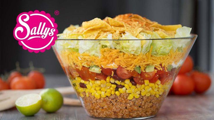Mexikanischer Partysalat – Taccosalat – Nachosalat – Partyrezept – YouTube