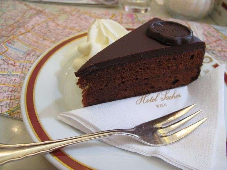 The Original Sacher Torte at the Hotel Sacher #dessert #sachertorte