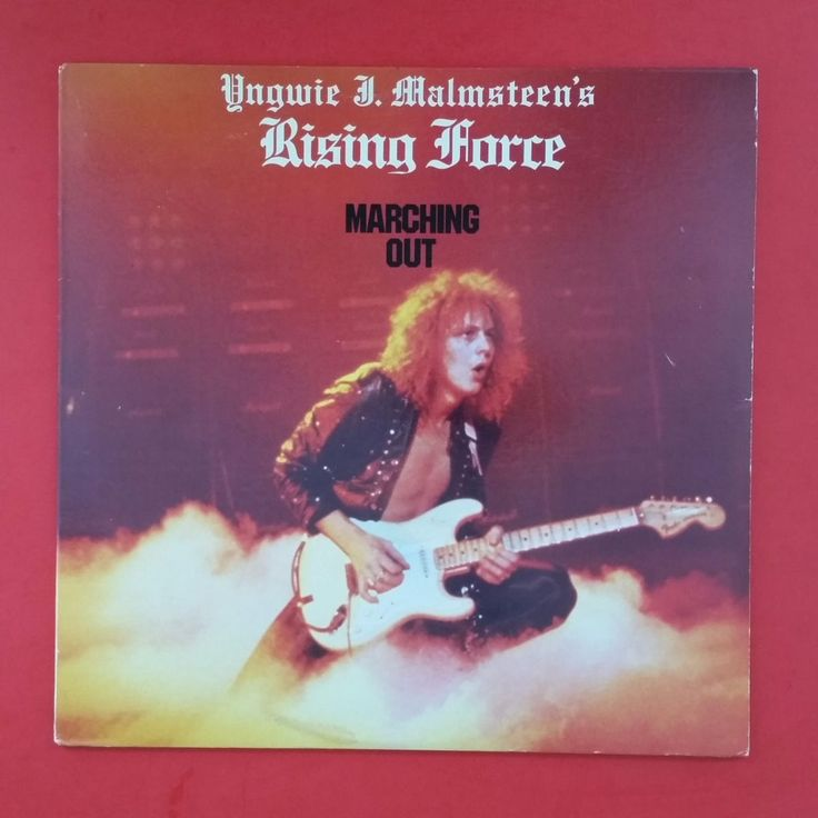 Yngwie J Malmsteen Rising Force Marching Out Lp Vinyl Vg++ Cover ...