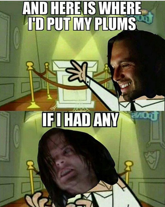 If I had any plums.  Bucky Barnes  Sebastian Stan