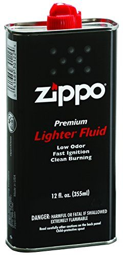zippo Lighter Fluid, 12 oz. - Zippo Premium Lighter Fluid will keep your Zippo windproof lighter and Zippo Hand Warmer working at its best. Zippo Premium Lighter Fluid comes in a 12 fl. oz. can. Note: This product is not for use with the Multi Purpose Lighter, Flex Neck, Candle Lighter or Outdoor Utility Lighter.